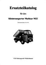 Ersatzteilkatalog für Multicar M22