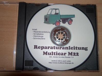 Reparatur- u Betriebsanleitung,Ersatzteilkatalog für Multicar 22