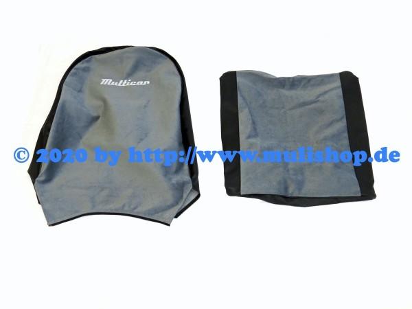 """Sitzbezug grau/schwarz mit Schriftzug """"Multicar"""" für M24 / M25"""