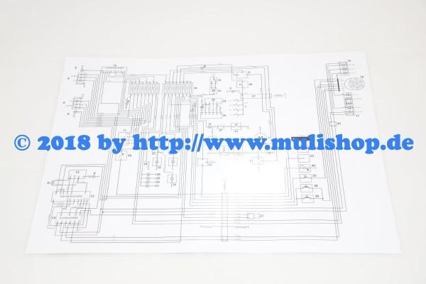 Schaltplan DIN A3 für Multicar M25