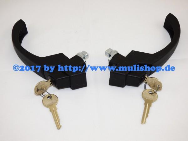 Türaußengriffgarnitur 2 Stück mit 4 Schlüssel