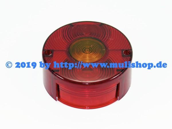 Rückleuchtenglas 3-Kammer rund ohne Kennzeichenbeleuchtung