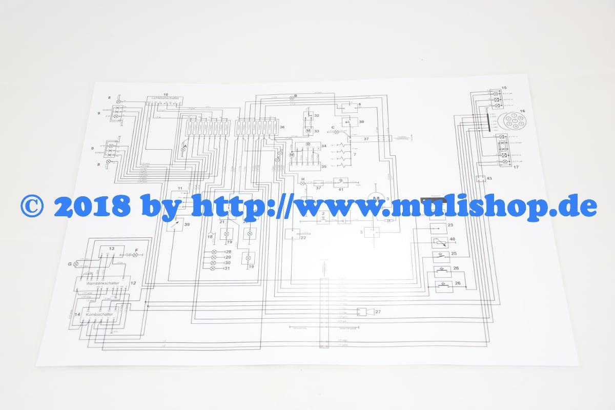 schaltplan din a3 f r multicar m25 anleitungen m25. Black Bedroom Furniture Sets. Home Design Ideas