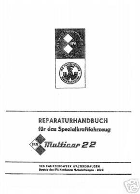Reparaturanleitung für Multicar M22