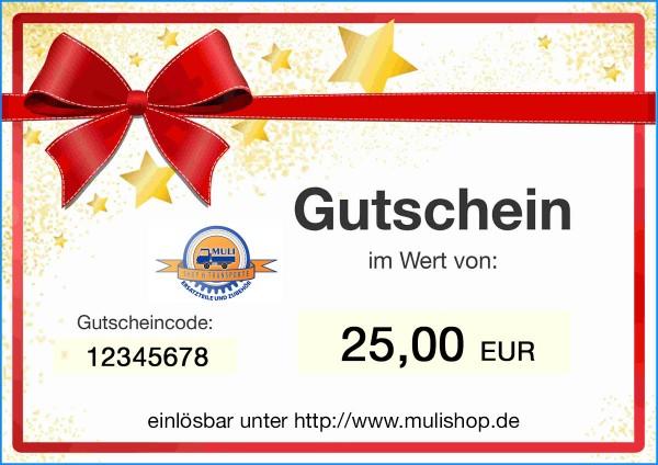 Einkaufsgutschein im Wert von 25 EUR