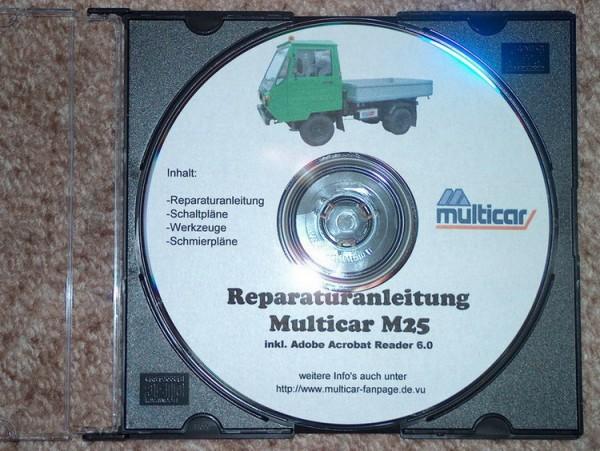 Reparatur- u Betriebsanleitung,Ersatzteilkatalog f. Multicar M25