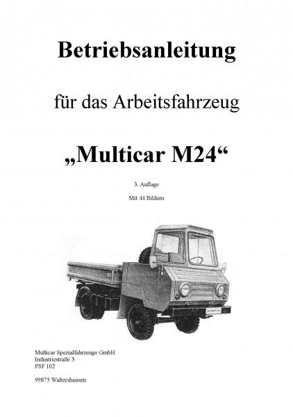 Betriebsanleitung für Multicar M24