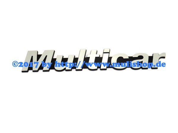 "Schriftzug ""Multicar"" selbstklebend original silber"