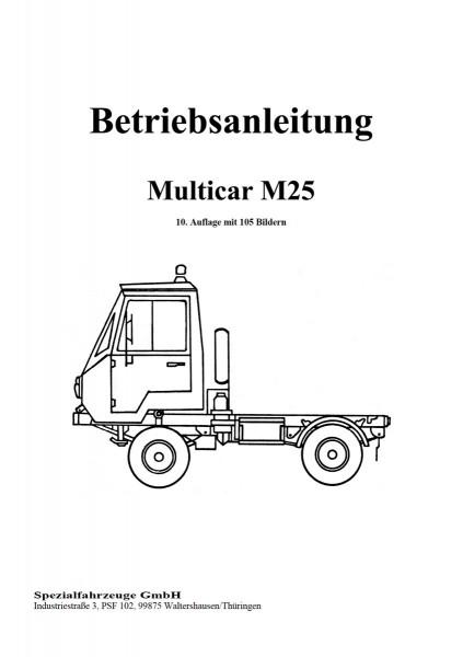 Betriebsanleitung für Multicar M25