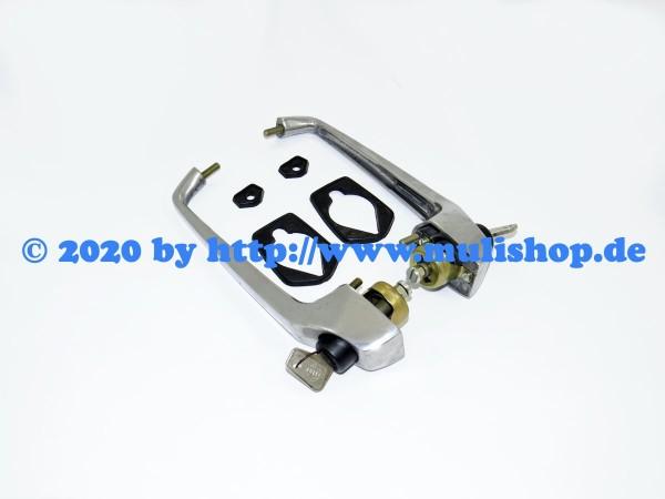 Außentürgriffpaar, poliert Metall (2 Schlüssel)