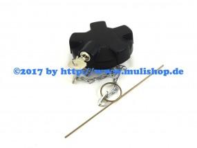 Tankdeckel mit Kette und Schloß (2 Schlüssel)