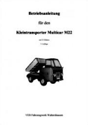 Betriebsanleitung für Multicar M22