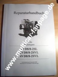 Reparaturanleitung für Motor 1VD8/8-2SL, 2 und 4VD8/8-2SVL